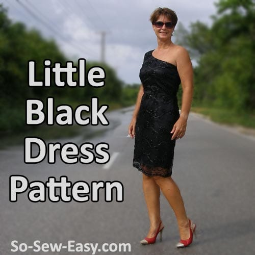 Free little black dress pattern. Perfect for the holidays and the office party.