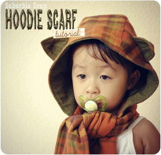 Childrens hoodie scarf pattern