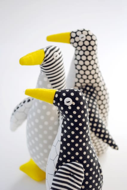 Penguins on Parade free stuffed animal pattern