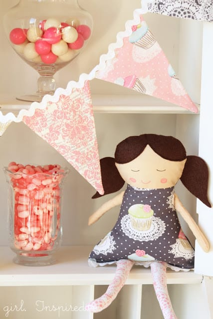 Free make a cute doll pattern from The Girl Inspired
