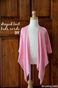 draped knits kids cardi