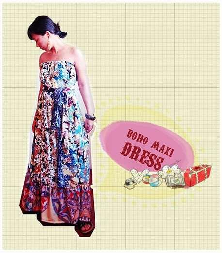 Boho Maxi Dress Pattern Maxi Boho Dress