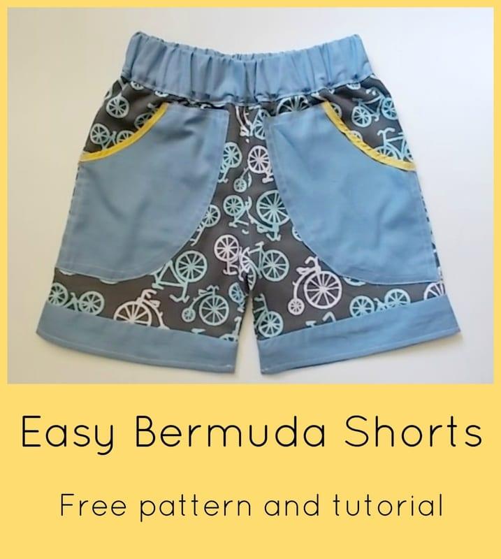 Easy Bermuda shorts tutorial