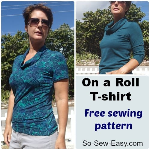 On a Roll T-shirt free sewing pattern