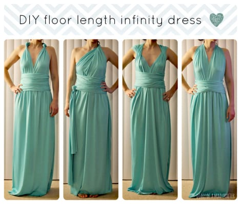 Floor length infinity dress
