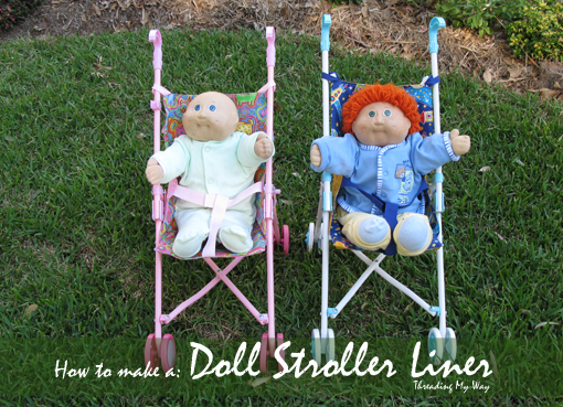 Doll stroll liner tutorial