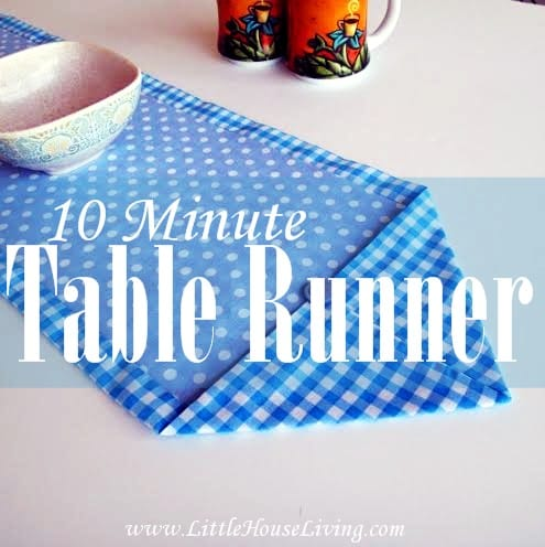 How to sew a ten minute table runner - Sewing 4 Free