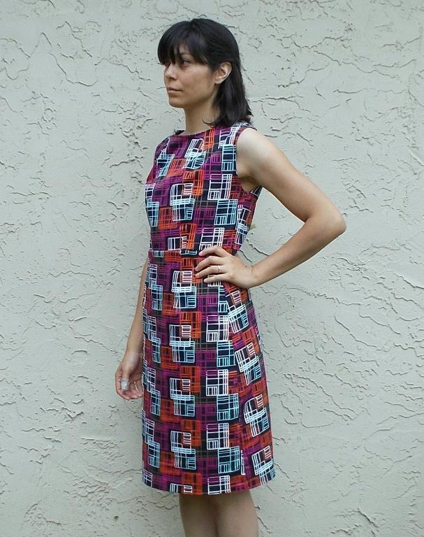 Pam dress free pattern features a 50 s inspired dress with a modern