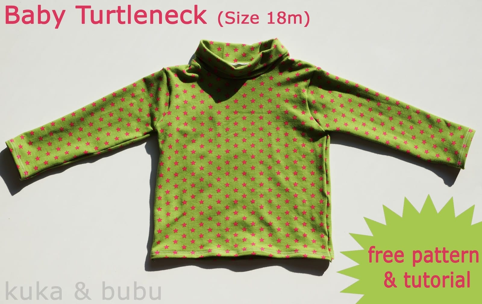 Turtleneck for babies pattern and tutorial