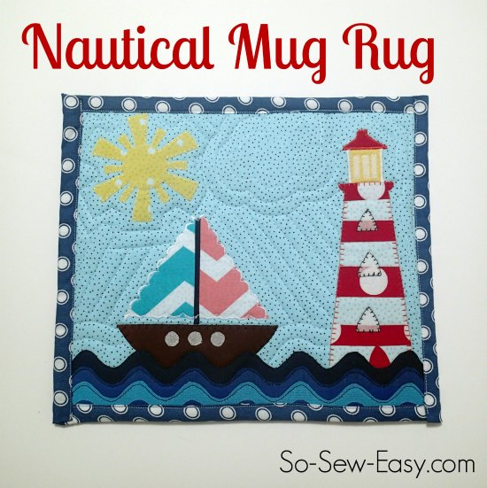Nautical mug rug pattern