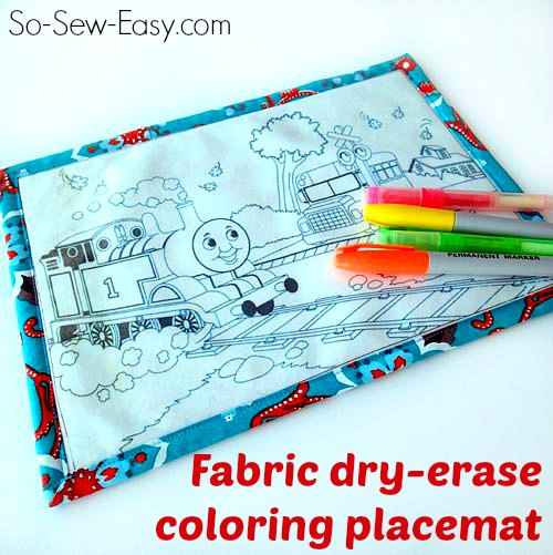 Toddler Dry Erase Coloring Placemat Pattern