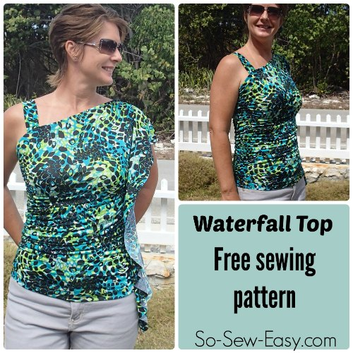 Waterfall top free pattern