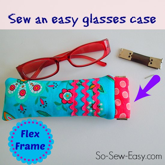 Sew reading glasses case using a Flex Frame
