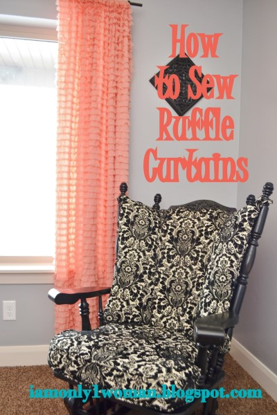 How to sew raffle curtains