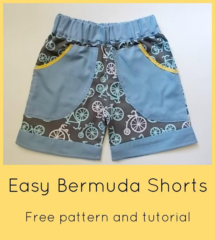 Summer Bermuda shorts pattern