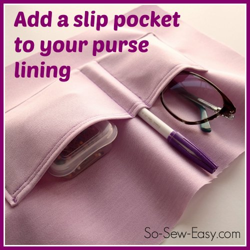 Slip pocket tutorial