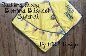 Budding Baby bunting blanket tutorial