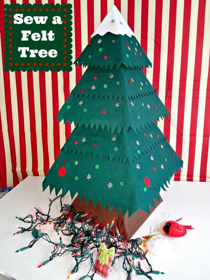 Christmas felt tree pattern