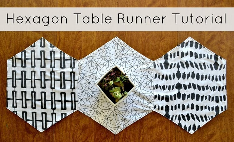Hexagon Table Runner Pattern and tutorial
