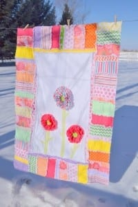 Ruffled Flower Rag Quilt Pattern
