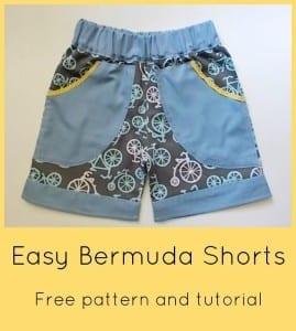 Summer Bermuda shorts pattern