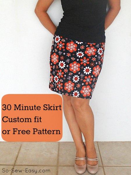 30 minute easy skirt pattern