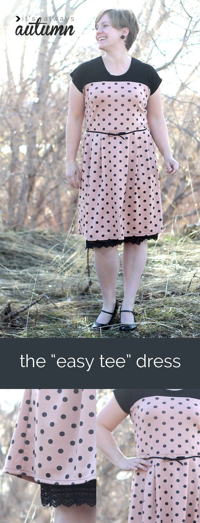 Easy tee dress pattern