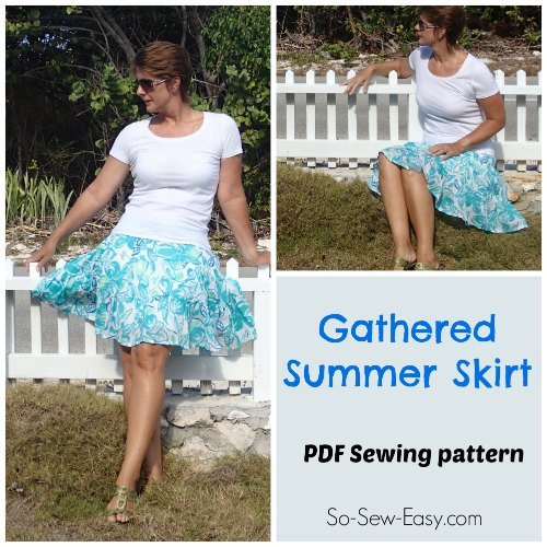 Gathered Summer skirt free pattern