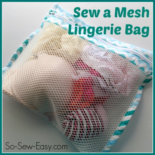 Sew a mesh lingerie bag tutorial