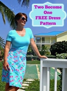 Two Become One t-shirt dress pattern