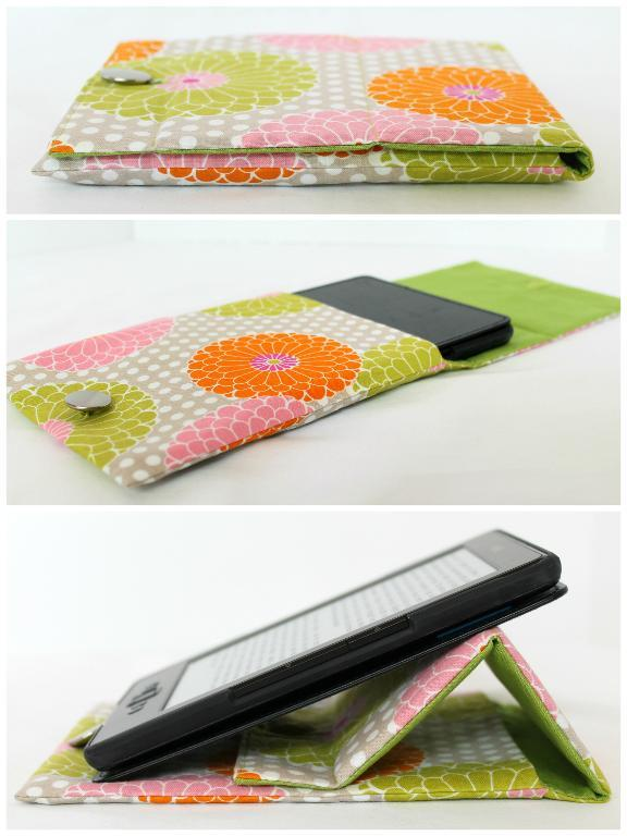 Prop-up tablet case pattern