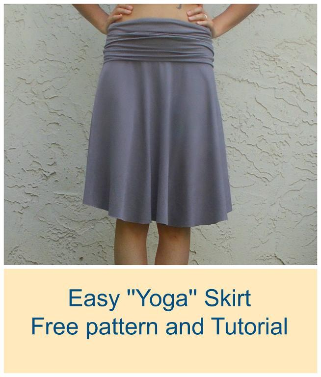 Knitting Pattern For Yoga Wrap : Yoga skirt pattern and tutorial - Sewing 4 Free