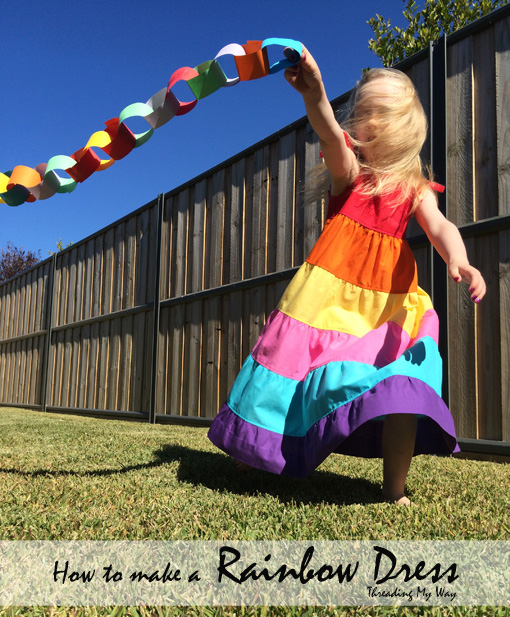 Rainbow dress tutorial