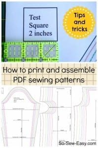 How to print and assemble a PDF Pattern