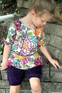 Piped peplum top free pattern