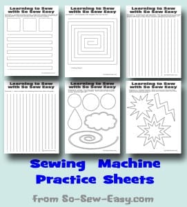 Sewing machine practice sheets