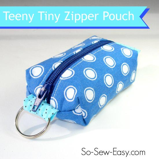 Key ring zipper pouch pattern