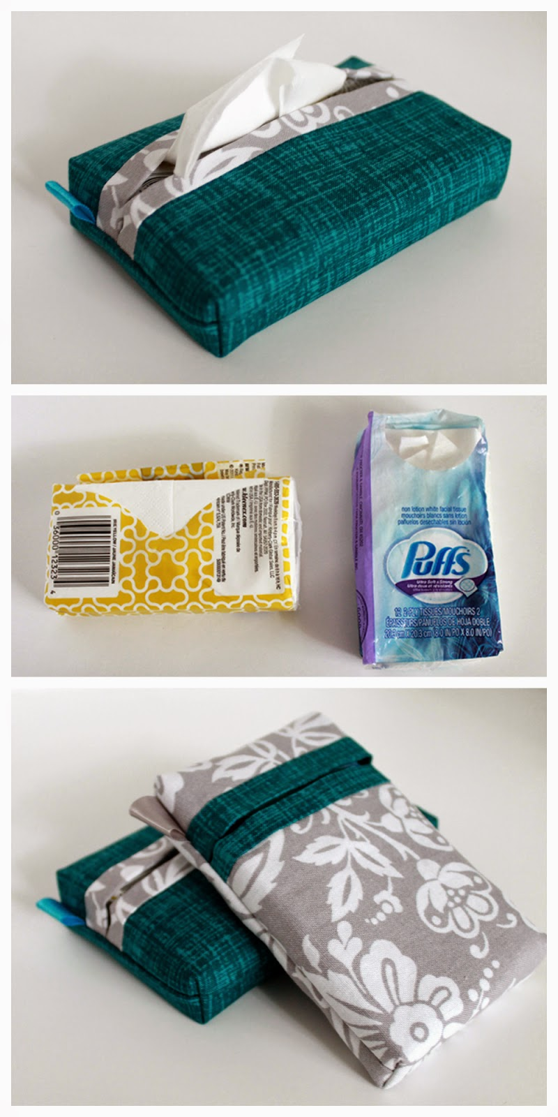 Pocket pack tissue cover pattern