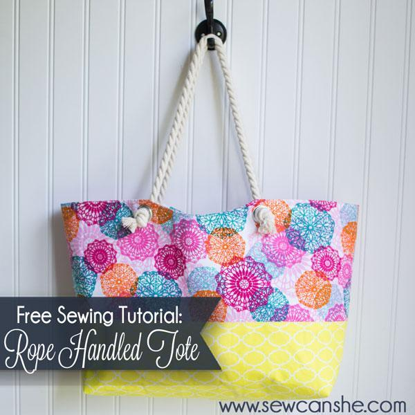 Rope Handled Tote pattern
