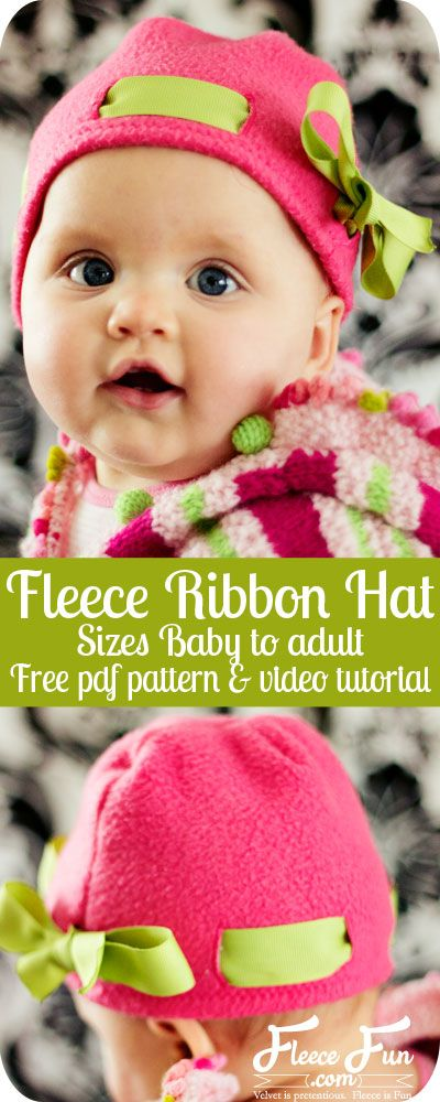 Fleece hat Ribbon  pattern