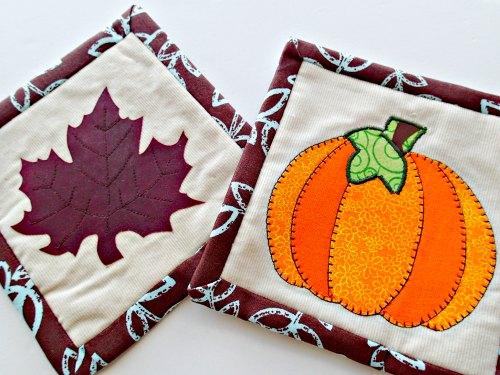 Fall mug rug pattern