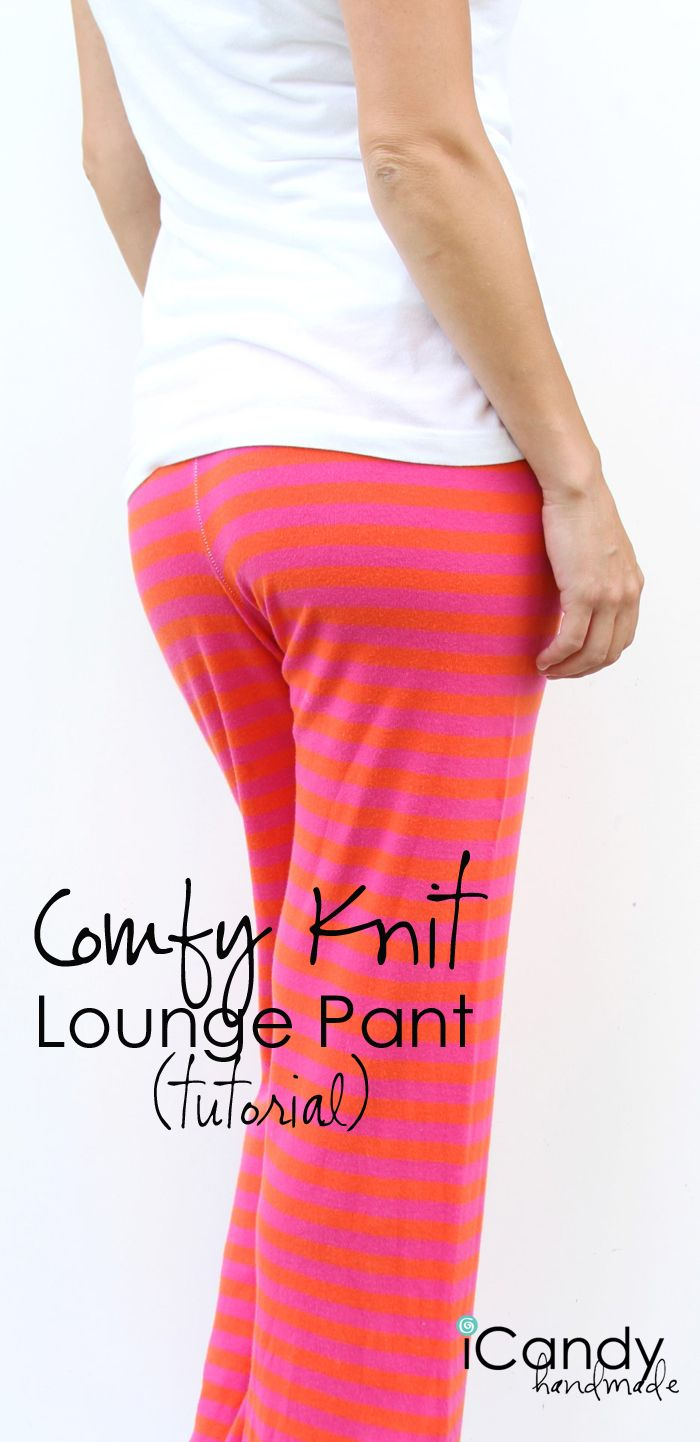 Knit lounge pants pattern