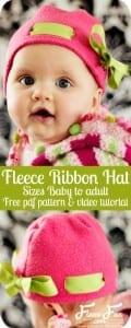 Fleece hat Ribbon pattern