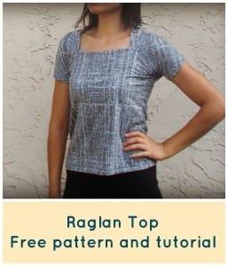 Raglan top free pattern
