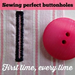 How to sew a buttonhole with a buttonhole foot