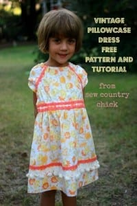 Vintage pillowcase dress pattern and tutorial