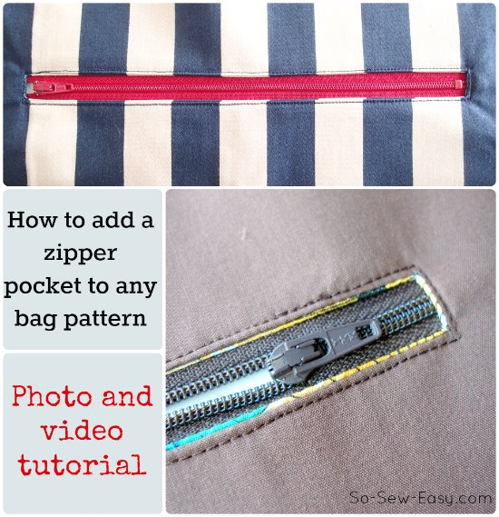 How to add a zipper pocket to a purse