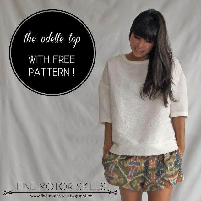 Odette top pattern