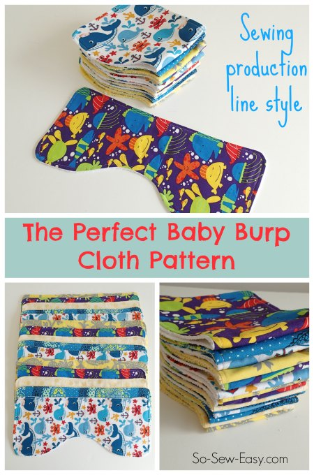 Baby Burp Cloth pattern