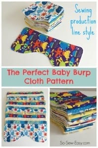 Baby Burp Cloth pattern